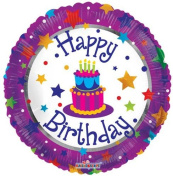 Single Source Party Supplies - 46cm BIrthday Cake & Stars Mylar Foil Balloon - Pack of 5
