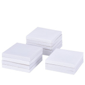 eZAKKA 5.1cm x 5.1cm Mini Canvas Panels for Painting Craft Drawing, 12-Pack