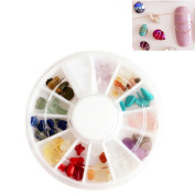 CoulorButtons 1 Box Colourful Irregular Natural Stone 3D Nail Art DIY Decorations