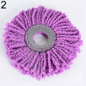 Gilroy Replacement 360 Rotating Head Easy Magic Microfiber Spinning Floor Cloth Mop Head