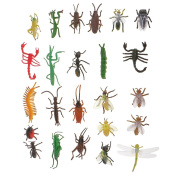 MagiDeal 24x Plastic Insect Model Ladybug Scorpion Bee Ant Bugs Kids Educational Toys