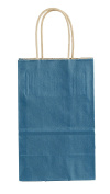 Premier Packaging AMZ-279011 Colours on Kraft Shopping Bag, 5.25 by 8.9cm by 21cm , 15 Count - Navy