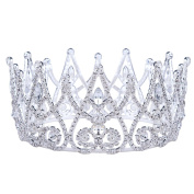 Stuffwholesale Royal Gold Silver Crown Rhinestone Crystal Princess Queen Tiaras Party Prom Pageant Hair Jewellery with Bobby Pins