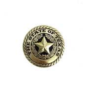 State of Texas Seal Round Concho Western Decoration Chicago Screw Brass