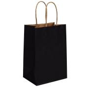 """BagDream Kraft Paper Bags 25Pcs 13cm x 8.3cm x 8"""", Rose, Shopping Bag, Kraft Bags, Black Bags with Handles"""