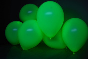 DirectGlow Brand Neon Green 28cm UV Blacklight Reactive Latex Balloons