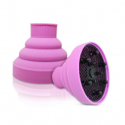 PU Beauty Hair Naturals Essential Silicone Folding Blow Dryer Diffuser, Pink, 310ml