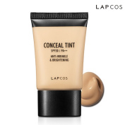 [LAPCOS] Conceal Tint SPF30 PA++ 30ml - All in One Concealer + Foundation Makeup, High Coverage Velvety Finish