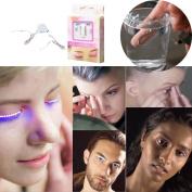 Ecosin Luminous Eyelash Light LED Eyelashes Eyelid False Eyelashes For Fashion Icon Saloon Pub Club Bar Party