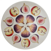 Jersey Pottery Cremona Cheese and Fruit Platter, Cream