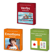 Verbs, Feelings and Emotions and Shapes, Colours and Numbers Flashcard Pack