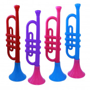 Plastic Trumpet Toy For Kids Party Favours - 4 Pack