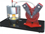 Weiheng V-Type Mini Hot Live Steam Engine Model Twin Cylinder Model Education Toy Kits School Science Project Kits EK-D029