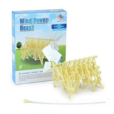 Wind Power Beast,Mini Strandbeest DIY Assembly Model Kids Educational Toy