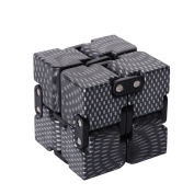 Fidget Infinity Cube Pressure Reduction Toy, Killing Time, Great for ADD ADHD Anxiety, for Adults and Children - Black colour