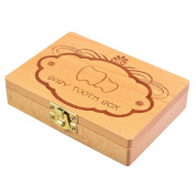 Pizies Lovely Wooden Handmade Baby Teeth Keepsake Environmental Boxes for Kids Boys and Girls updated Version