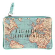 Sass & Belle chc091 – Small Bag Vintage Map For Great Adventures