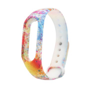 Watch Bands For Xiaomi Miband 2 New Fashion Painted Pattern TPU Replacement Bracelet Watch Strap