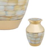 Perfect Memorials Brass Mother Of Pearl Keepsake Cremation Urn