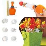 Gemini_mall® 6Pcs Fruit Cutter Maker Shaper Cake Twister Slicer Food Decorator Tool