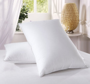 Luxury Duck Feather Pillows 2 pack, Large & Comfortable Hotel Quality 100% Cotton Highliving ®