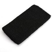 Tutoy Sweatband Wristband Sports Wrist Wrap 15cm Badminton Yoga Tennis Band -Black
