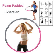 FitnessWave Weighted 1.2kgs Fitness Exercise Hula Hoop - Pink/Grey
