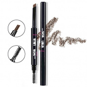 HeyBeauty Eyebrow Pencil with Brow Brush, Waterproof Automatic Makeup Cosmetic Tool
