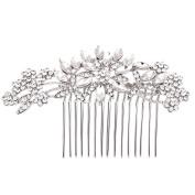 Fairy Moda Crystal Wedding Hair Accessories Flower Bridal Hair Pieces Silver Combs