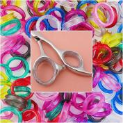 Barber Hairdressing Shears Scissors Finger Rings Grips Inserts 5 sets
