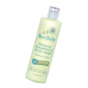 Organic Baby Shampoo & Body Wash with Aloe, Cucumber, Citrus Essential Oils – Safe, Gentle, Tear Free – Eczema Friendly – Paraben, Dye, Gluten, and Sulphate Free – 470ml