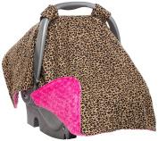 Elonka Nichole Baby Girl Carseat Canopy, Cheetah