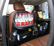 AUS Car PU Leather Back Seat Organiser Foldable Car Dining Table Multifunctional Back Seat Organiser for Kids