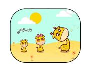 She-love 2 Size Car Baby Window Cartoon Sun Shade Maximum UV Protection Medium/Extra Large-50cm x 41cm /50cm x 30cm
