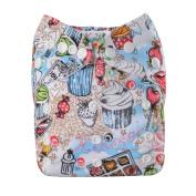 Cloth Nappy,MayWay Baby Cloth Nappy Adjustable Snap Washable Cloth Pocket Nappy + 2 Inserts One Size