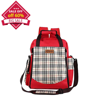 GUGER Large Baby Nappy Bag Backpack Nappy Bags Smart Travel Organiser For Med And Women With Changing Pad (red)