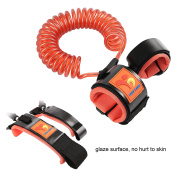 Anti-Lost Wrist Link/Strap/ Leash For Toddlers & Kids Safety - Safety Harness For Your Child - Orange