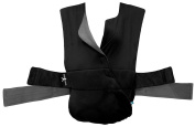 Wallaboo Infant Baby Carrier Cross, Front Carrier for Newborn, 100% Cotton, Ergonomic and easy to use, Deep Black