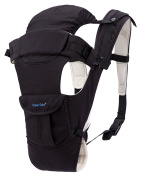 CYLEN 100% Cotton 5 in 1 Baby Carrier Featuring a Hip Seat and Hood