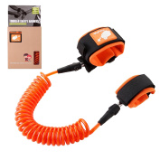 Best Cotton Baby Anti Lost Wrist Link Safety Hook and loop Wrist Link 2.5 metres by FAMILIFE (Orange)