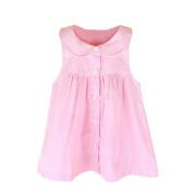 Girls Clothes Odeer 2017 Toddler Infant Kids Baby Girl O-Neck Dress Clothes Stripe Sleeveless Casual Dresses Pink And Blue