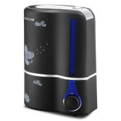 Cool Mist Humidifier Ultrasonic Air Purifier Humidifiers with Filter for Whole House Office Yoga Large Room-Black