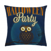 TOPUNDER Happy Halloween Linen Throw Pillow Case Cushion Cover Home Sofa Decor New B