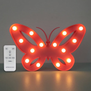 Night Light Butterfly Led Night Light Remote with Dimmer Birthday Gifts for Kids Who love Animals or Kids Room Decor