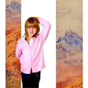 Growth Chart Art | Wood Ruler Growth Chart for Kids, Boys & Girls | Height Chart | Baby Shower Gift | Nursery Wall Decor | Mountain