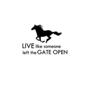 Horse Vinyl Wall Decal Mustang Quote Wall Words Sticker Girls Room Decor Kids Western Wall Decor College Student Dorm Room