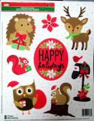 Christmas Decorative Window Clings Reusable Stickers