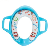 KMMall Potty Training Seat Soft Padded Potty Ring Toilet Training Ring for Toddler Portable Travel Elongated Potty Chair