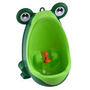 Yunt Cute Frog Children Potty Toilet Training Kids Urinal for Boys Pee Trainer Bathroom