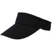 TOOGOO(R) Visor Sun Plain Hat Sports Cap Colours Golf Tennis Beach New Adjustable Men Women-Black